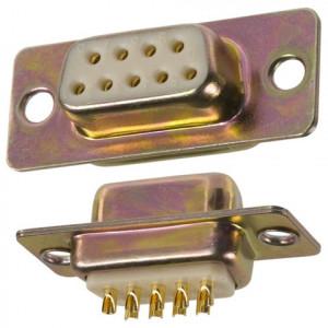 Gniazdo D-SUB 9 pin lutowane na kabel opak=100 szt