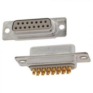 Gniazdo D-SUB 15 pin lutowane na kabel opak=100 szt