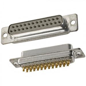 Gniazdo D-SUB 25 pin lutowane na kabel opak=100 szt
