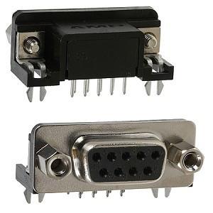 Gniazdo D-SUB 9 pin 7.2 kątowe do druku opak=100 szt