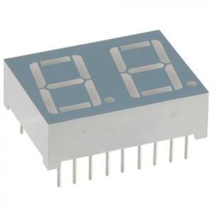 Wyświetlacz 2 cyfry h=13.22mm Zielony WA (wspólna anoda) (LDD052BG)