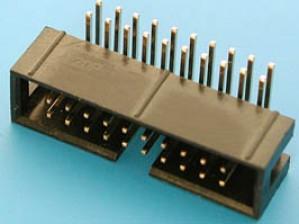 Wtyk IDC 20 pin kątowy do druku opak=100 szt