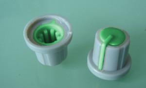 Gałka potencjometru szara 17.5mm zielona