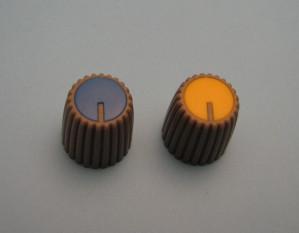 Gałka potencjometru szara 15mm GS15 żółta
