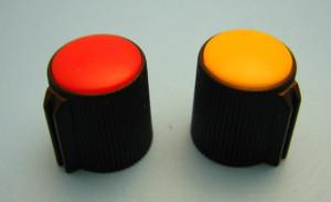 Gałka potencjometru czarna 13mm GC13 czerwona