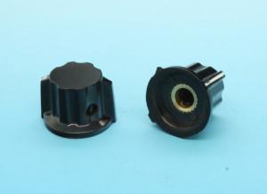 Gałka bakelitowa czarna GBCH16 16mm h=16