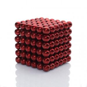 """Magnes neodymowy kulka średnica 5mm """"NEOCUBE"""" czerwony"""