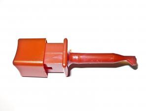 Chwytak pomiarowy haczyk l=50mm kwadratowy, czerwony