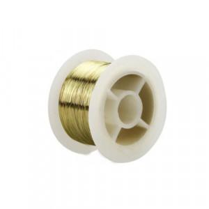 Drut molibdenowy 0.1mm pozłacany 50m