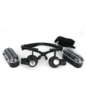 Lupa okularowa z podświetleniem 4 soczewki