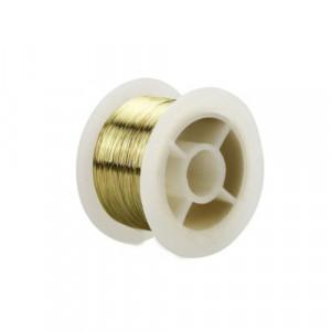 Drut molibdenowy 0.1mm pozłacany 15m
