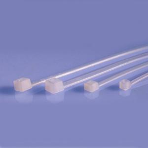 Opaska kablowa 2.5x100mm biała opak=100 szt