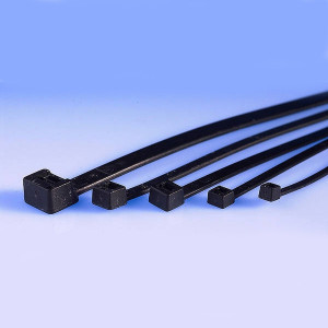 Opaska kablowa 2.5x160mm czarna opak=100 szt