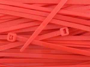 Opaska kablowa 2.5x100mm czerwona opak=100 szt