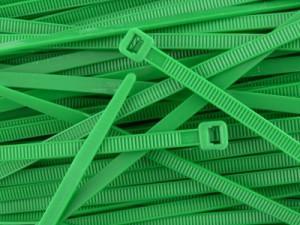 Opaska kablowa 2.5x100mm zielona opak=100 szt