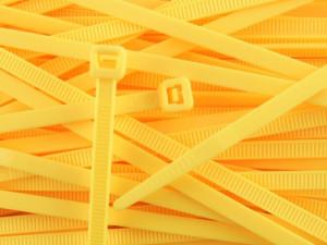 Opaska kablowa 2.5x100mm żółta opak=100 szt