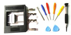 Uchwyt montażowy do serwisu PCB + śrubokręty