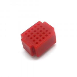 Mini płytka stykowa 25 pól czerwona