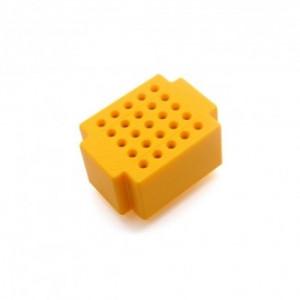 Mini płytka stykowa 25 pól żółta