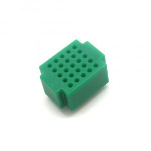 Mini płytka stykowa 25 pól zielona