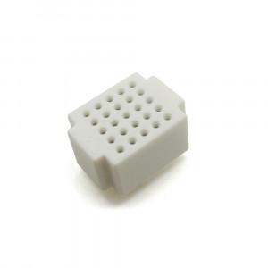 Mini płytka stykowa 25 pól biała