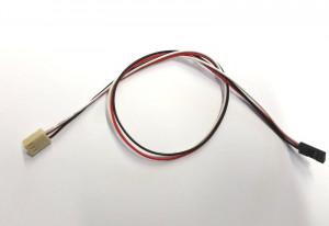 Kabel żeński 2PIN 2.54 --> 2.54mm czarny l=40cm