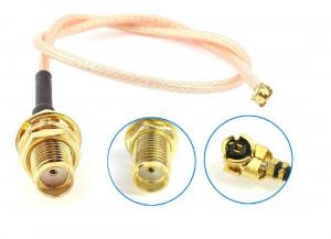 Adapter U.FL (IPEX) - SMA żeńskie 20cm