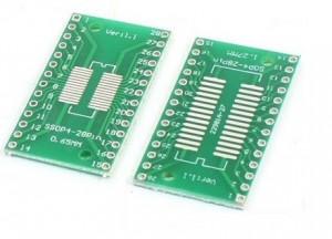 Adapter SOP28, SSOP28 na DIP28 Zielona