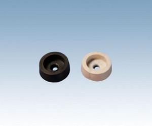 Nóżka czarna z gumy d=14mm, opak=100 szt