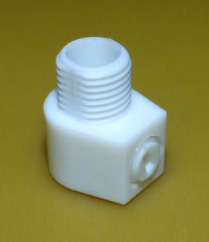 Zabezpieczenie/blokada przewodu białe, gwint zewnętrzny