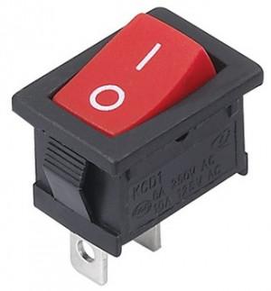MRS101 A-C3R 6A 250V pojedynczy czerwony ON-OFF
