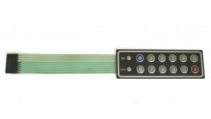 Klawiatura membranowa 12 klawiszy + 2 diody LED