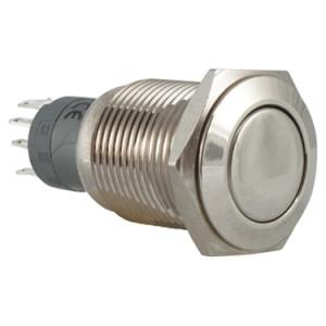 PBW-19B Przycisk wandaloodporny monostabilny 2A 250V klawisz płaski