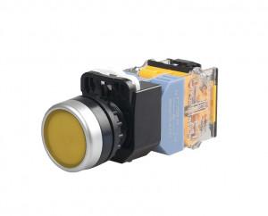 LA38 Przełącznik tablicowy monostabilny 22mm 10A 380V żółty
