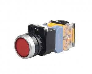 LA38 Przełącznik tablicowy monostabilny 22mm 10A 380V czerwony