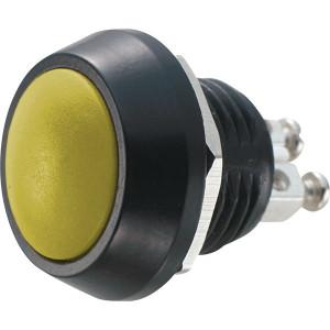 PBWC-12B Przycisk wandaloodporny, metalowy, monostabilny 2A 250V, klawisz wypukły żółty