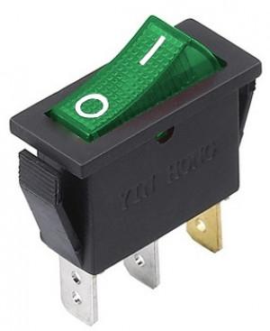 RS101-16C3L 15A 250V zielony pojedynczy ON-OFF z podświetleniem