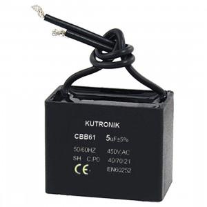 Kondensator silnikowy 1.8uF/450VAC z przewodami CBB61
