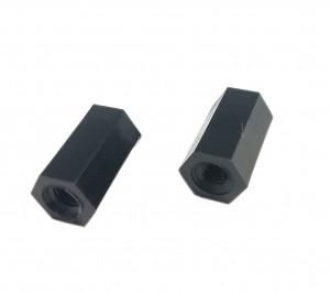 10mm Z tworzywa z gwintem M3 W/W czarna opak=100 szt
