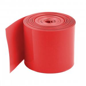 Folia termokurczliwa na 1 akumulator 18650, długość 20mb czerwona