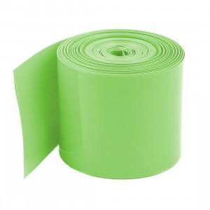 Folia termokurczliwa na 1 akumulator 18650, długość 20mb zielona