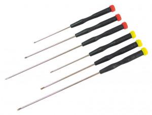 Zestaw 6 śrubokrętów (3płaskie, 3 krzyżowe)