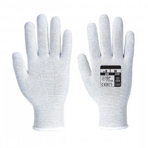 Rękawiczki antystatyczne ESD gładkie szare rozmiar XL A197GRRXL