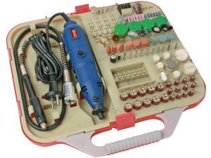 Mini wiertarka 230V z akcesoriami 162szt