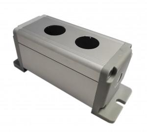 Obudowa aluminiowa do przełącznika wandaloodpornego 2x19mm