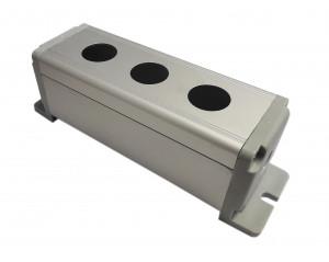 Obudowa aluminiowa do przełącznika wandaloodpornego 3x19mm