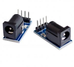 Gniazdo DC 2.1/5.5 do płytki prototypowej z LED