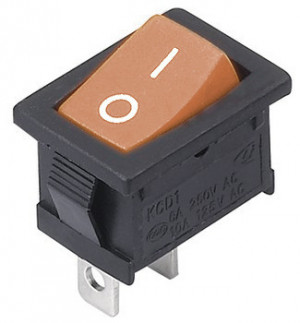 MRS101 A-C3Y 6A 250V pojedynczy pomarańczowy ON-OFF