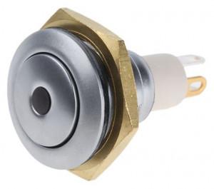 PBW-16BPr Przycisk wandaloodporny z punktem, monostabilny 2A 250V klawisz płaski podś czerwone 3V