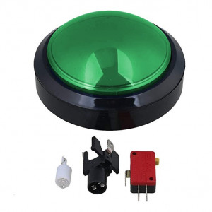 Przycisk BIG Push monostabilny 3A/250V zielony, podświetlenie 12V